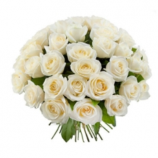Bouquet of white 51 roses