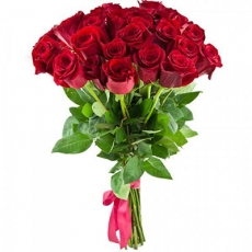 Bouquet with Dutch red roses N1