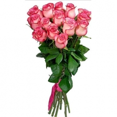Bouquet with Dutch pink roses N6